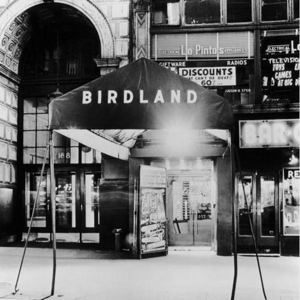 The entrance to the Birdland nightclub in New York City.