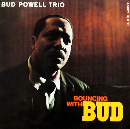 album cover for Bud Powell's BOUNCING WITH BUD lp