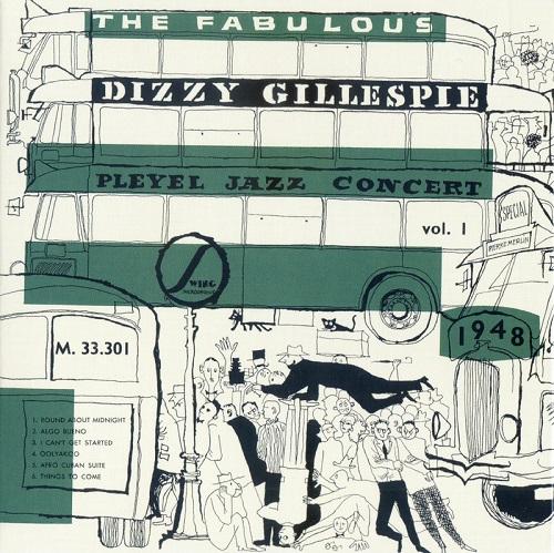 Cover of LP documenting Dizzy Gillespie's 1948 Pleyel jazz concert.