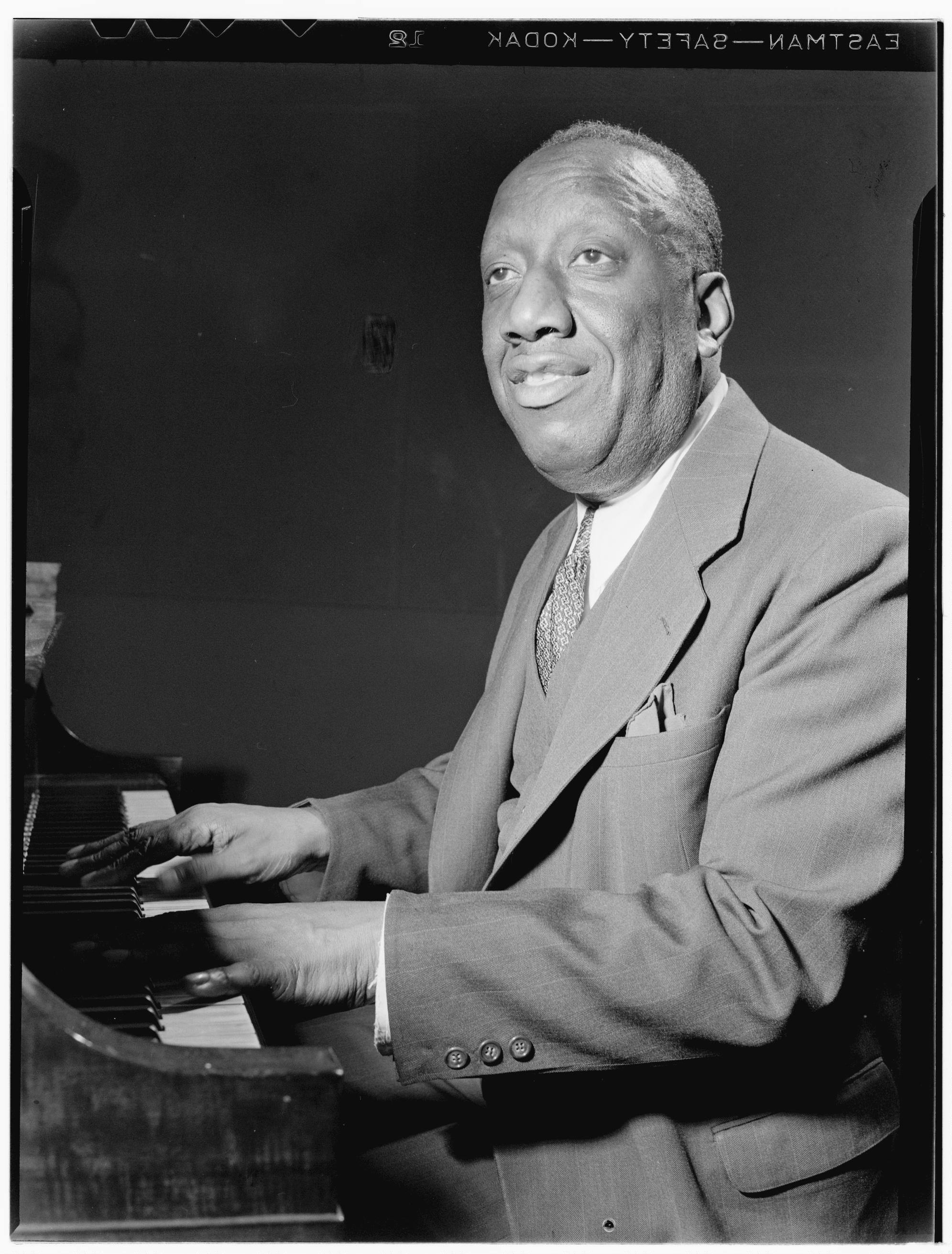 Photo of pianist James P. Johnson