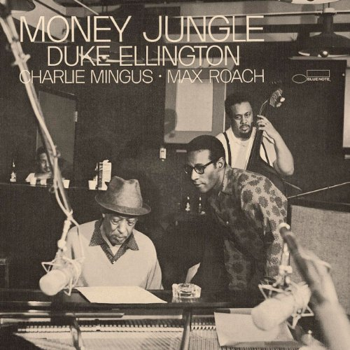 "The LP cover of Duke Ellington's ""Money Jungle."""