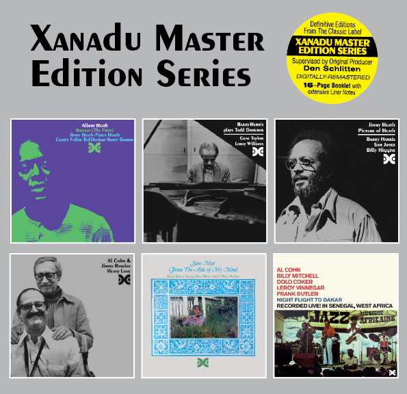 CD covers from the first batch of Xanadu reissues.