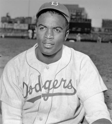 Photo of baseball player Jackie Robinson