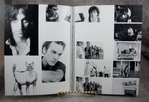 Pages from R.E.M.'s 1986 concert program