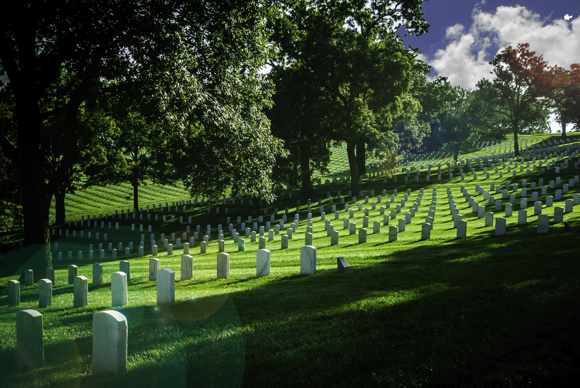 National Cemetery at Leavenworth, Kansas.