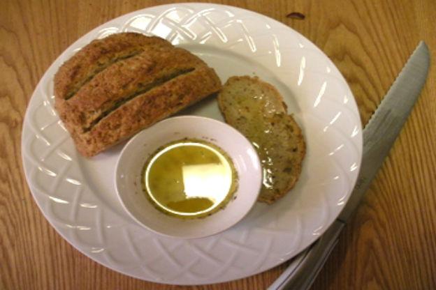 Gluten-free bread with oil.