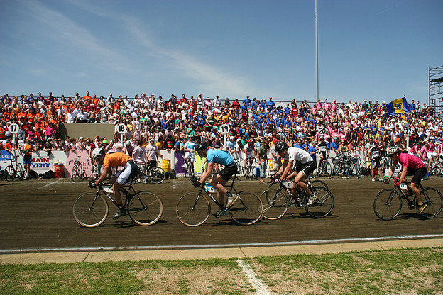 Little 500 riders on the race track