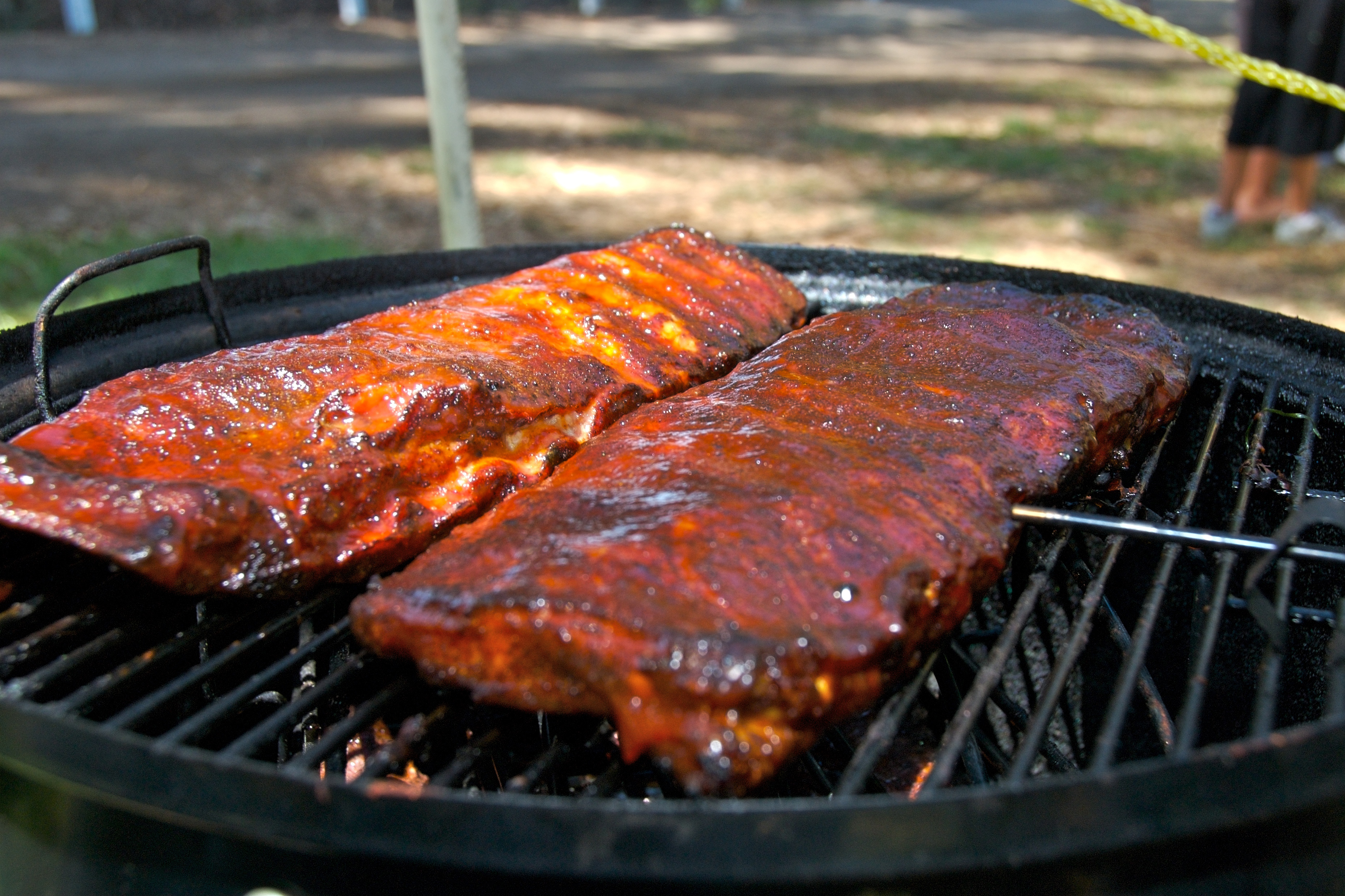 Herald Times food writer Lynn Schwartzberg says ribs are cooked perfectly when the meat doesn't fall off the bone, but you can still take a clean bite.