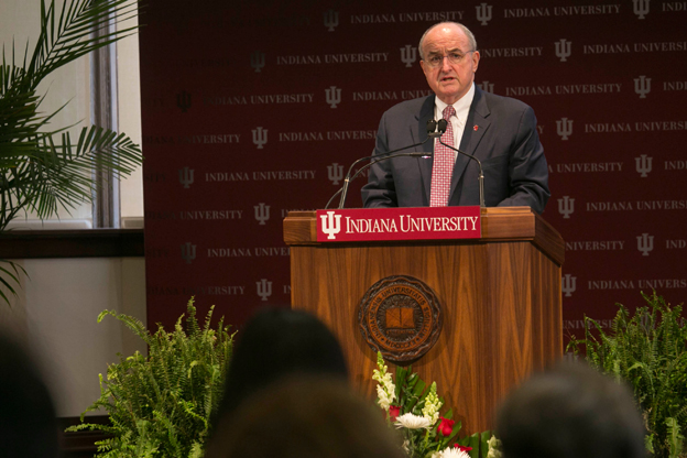Indiana University President Michael McRobbie will give a university update.