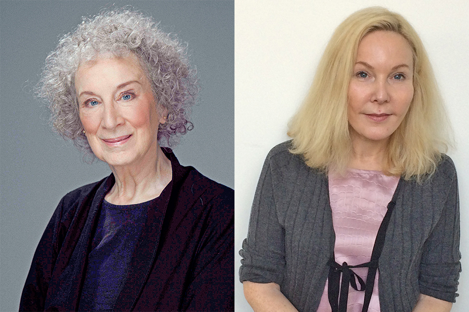 Head shots of Margaret Atwood and Katherine Boo