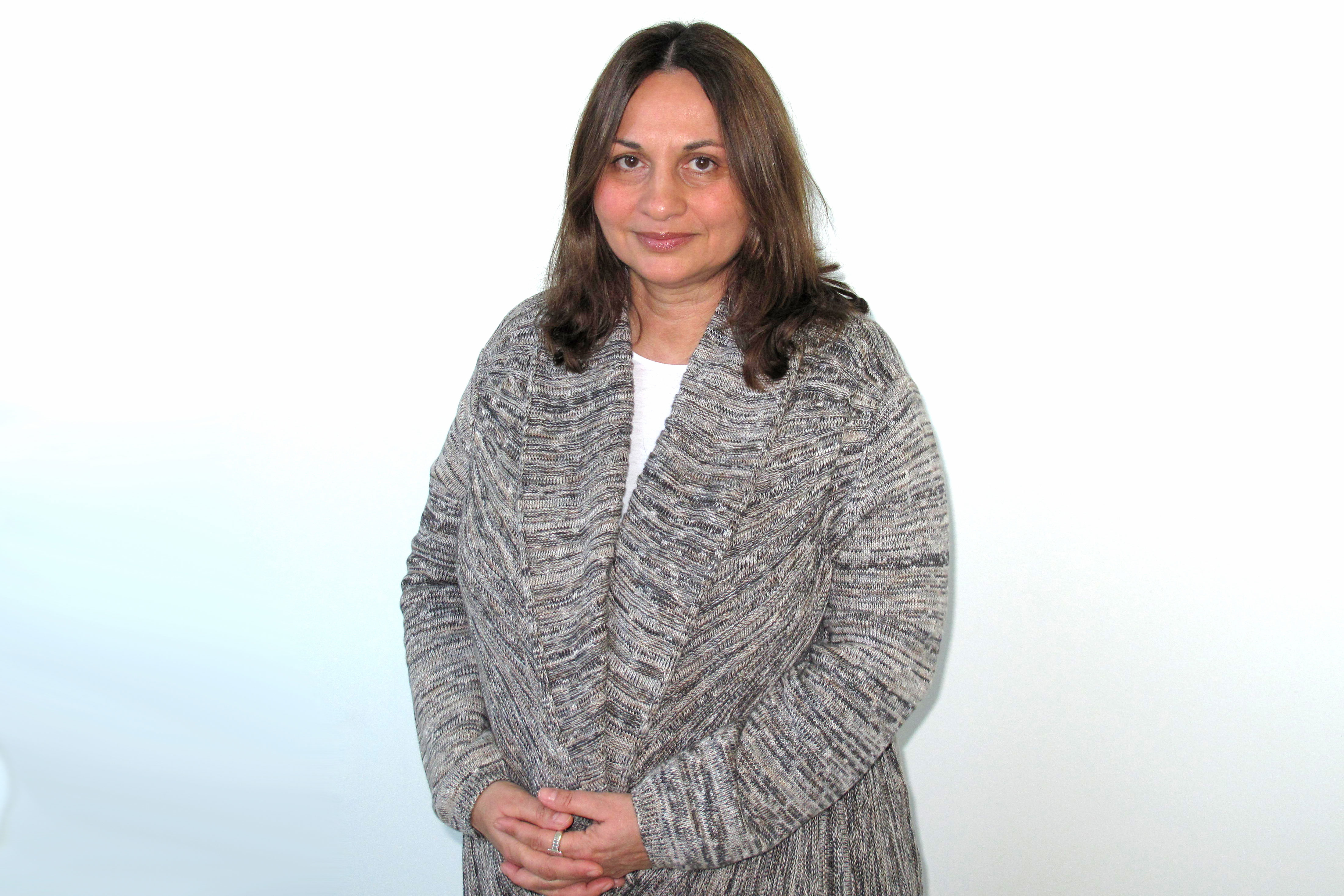 Soraya Sarhaddi Nelson in WFIU studios