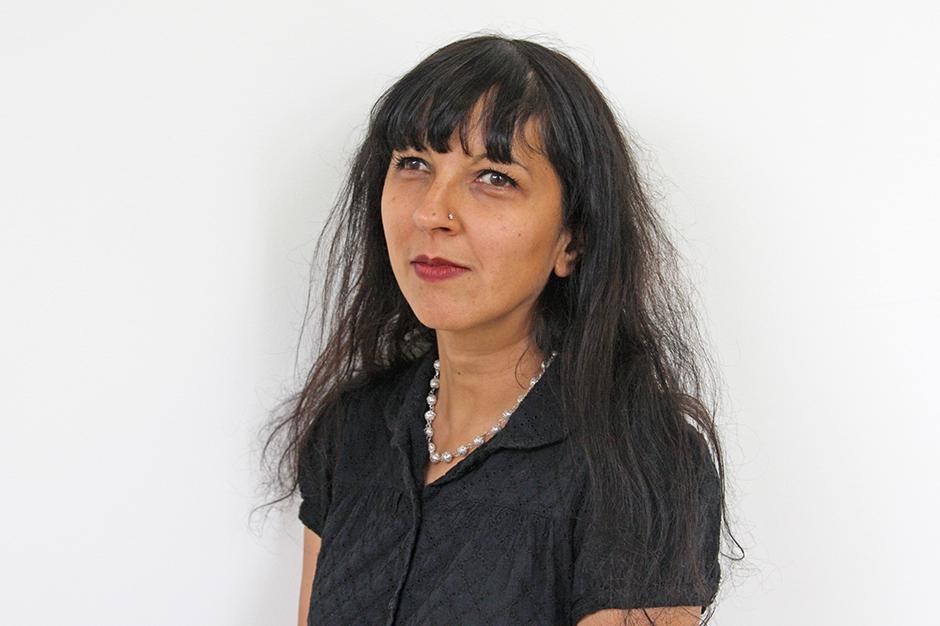Pravina Shukla in black top