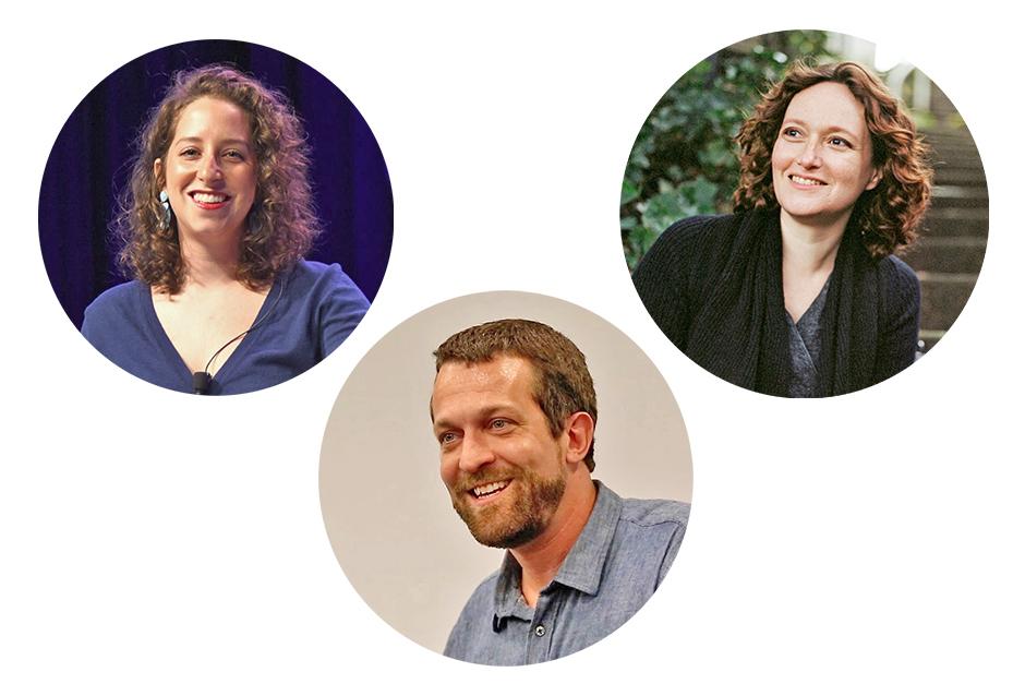 L to R: Amy Kurzweil, Alexander Weinstein, Mary Robinette Kowal